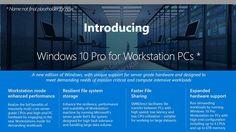 مايكروسوفت تحضر نسخة من ويندوز 10 للمحترفين Workstation edition  تسربت معلومات عن نسخة خاصة من ويندوز 10 تحضرها مايكروسوفت للشركات والمحترفين الذين يتعاملون مع كمية ضخمة من الملفات الكبيرة. النسخة الجديدة تعرف حاليا باسم Workstation edition إصدار محطات العمل وإليكم ما يميزها عن نسخ ويندوز 10 العادية.  تحوي هذه النسخة وضعية محطة العمل Workstation mode بحيث يتم تعديل النظام لتعطي أداء أكبر لمعالجة الملفات والرسوميات بالتالي الإستفادة القصوى من المعالج وبطاقة الرسوميات مقارنة بالوضعية العادية…