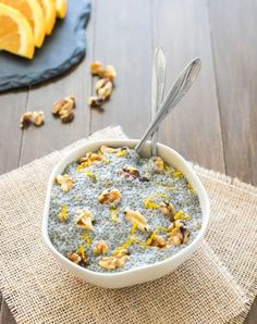 Orange Vanilla Bean Chia Pudding Bowl
