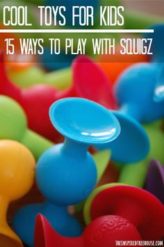 A cool toy for kids with amazing child development benefits from fine motor to visual motor. Super fun and so many ways to play!