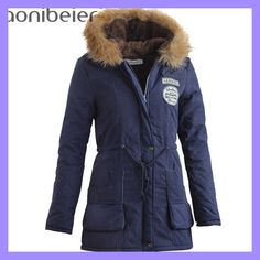 Women Coats Fashion Autumn Warm Winter Jackets Women Fur Collar Long Parka Plus Size Hoodies Cotton Outwear - Vietees Shop Online Winter Jackets Women, Coats For Women, Clothes For Women, Plus Size Hoodies, Mode Mantel, Long Parka, Parka Coat, Hooded Parka, Women's Coats