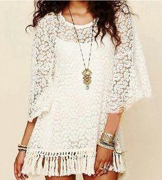 Fairy daisy tassel dress