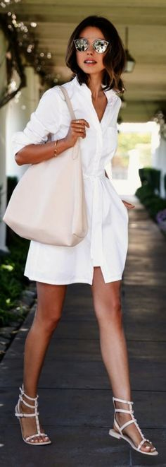 When we talk about most repinned summer outfits? Generally, we hear that cool whites, light tones of green, blues and any other gentle color will be the