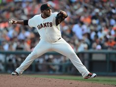 San Francisco Giants' Jean Machi (63) pitches in the eighth inning of Game 3 of baseball's NL Division Series against the Washington Nationals at AT&T Park in San Francisco, Calif., on Monday, Oct. 6, 2014. (Susan Tripp Pollard/Bay Area News Group)