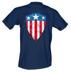 Marvel Marvel - Captain America Shield - Camiseta para hombre, color blau - blau (navy), talla M/M #camiseta #realidadaumentada #ideas #regalo