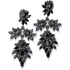 Fallon Crystal Cluster Marquis Statement Earrings (5.095.270 IDR) ❤ liked on Polyvore featuring jewelry, earrings, joias, fallon jewelry, crystal cluster earrings, earring jewelry and statement earrings