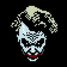 Pixel art (The movie character series) by jaebum joo Comic Book Villains, 8bit Art, Nerd, Polygon Art, Perler Bead Templates, Pixel Design, Joker Art, Cute Disney Wallpaper, Joker And Harley