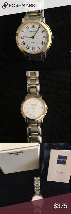 **CLOSET CO**Raymond Weil Two Toned Saxo 9521 Gently used, boxes and warranty card. Needs battery Raymond Weil Accessories Watches