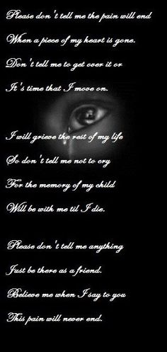 Loss of a child**