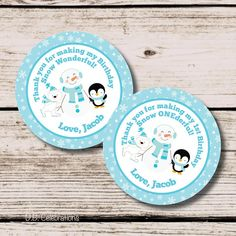 Winter Wonderland Favor Tag, Winter Birthday, Thank You Tag, First Birthday Party #winterwonderland #winterbirthday #dbcelebrations