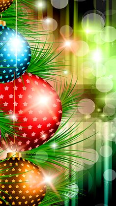 Xmas tree ornaments digital art wallpaper