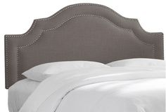 Bedford Nail-Button Headboard, Gray