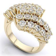 Diamantring mit 1.25 Karat Diamanten in 585er Gelbgold