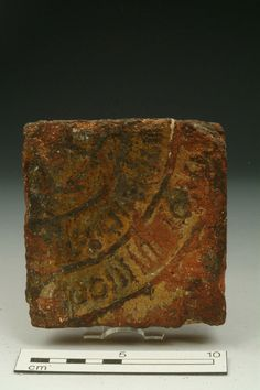 Floor tile, 14th century | Museum of London
