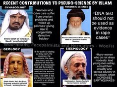 Recent contributions to pseudo-science by Islam. Idiots