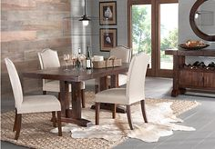 picture of Pacific Heights Dark Pecan 5Pc Rectangle Dining Room from Dining Room Sets Furniture
