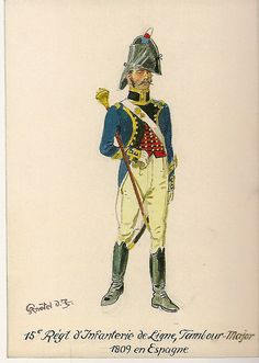 French; 15th Line Infantry, Drum-Major, in Spain, 1809