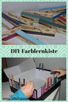 Eine tolle Methode um Kindern die Farben zu lernen