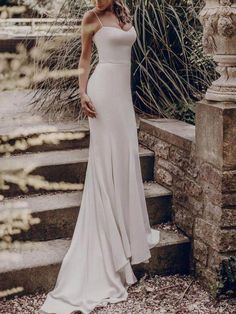 Spaghetti Prom Dresses, Mermaid Long Bridesmaid Dresses, Ivory Prom Dresses 539 from Prettyqueenprom - Wedding Dresses Models Green Wedding Guest Dresses, Ivory Bridesmaid Dresses, Short Lace Wedding Dress, Dresses To Wear To A Wedding, Wedding Dresses Plus Size, Bride Dresses, Wedding Outfits For Women, Robes D'occasion, Mermaid Dresses