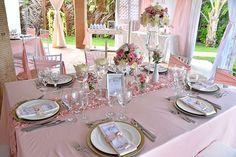 Guest table decor| Blush, romantic, French inspired wedding| Venue Kukua Punta Cana| Photo by Milan Vasovic, Milan Photo Cine Art