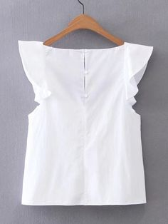 Shop V-Neckline Cap Sleeve Top online. SheIn offers V-Neckline Cap Sleeve Top & more to fit your fashionable needs. Fashion Clothes, Fashion Dresses, Pretty Outfits, Cute Outfits, Diy Kleidung, Mode Chic, Cap Sleeve Top, Blouse Styles, Casual Tops