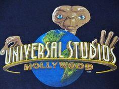 Rare ET Universal Studio Movie Film Aliens T-Shirt