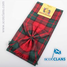 Dunbar Tartan Mini Sash. Free worldwide shipping available