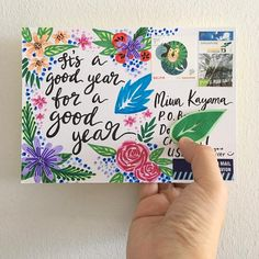 """Canyi (@ckenyee) on Instagram: """"It's a good week for a good week too ! ✌ . . #agoodyear #flowers #newyearnewstart #happymail…"""" Envelope Art, Envelope Design, Mail Art Envelopes, Snail Mail Pen Pals, Pen Pal Letters, Value In Art, Fun Mail, Happy Mail, Card Making Inspiration"""