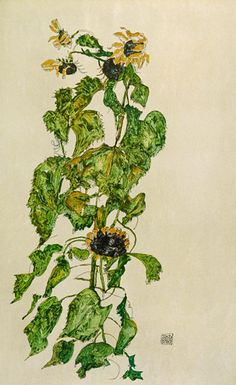 Egon Schiele- Sunflowers