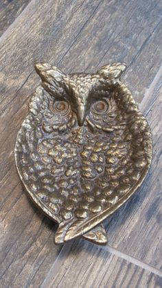 Vintage Brass Owl Dish 1964 Keeler by MaggyMayCo on Etsy, $30.00