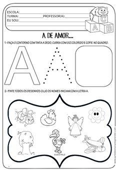 A Arte de Ensinar e Aprender: Atividade pronta - Letra A