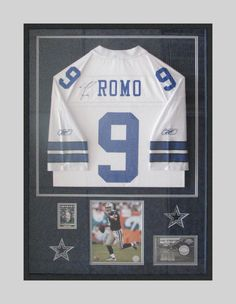 b2ece2a35 DIY frame a sports jersey with a shadow box from Michaels. This is a ...