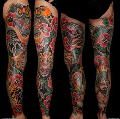 These tats are great leg designs