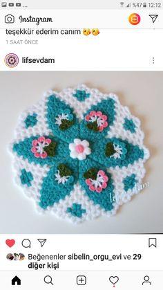 Crochet Squares, Crochet Motif, Crochet Hats, Anchor Piercing, Eye Shapes, Flower Designs, Design Art, Pink, Textiles