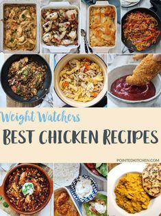 Take a look at these 10 Best Chicken Recipes for Weight Watchers Freestyle plan. A collection of low SmartPoint chicken recipes all in one place. Take your pick of over 10 stunning recipes. Weight Watchers Pasta, Weight Watchers Casserole, Weight Watchers Lunches, Weight Watchers Meal Plans, Weight Watcher Dinners, Weight Watchers Desserts, Healthy Eating Recipes, Diet Recipes, Delicious Recipes