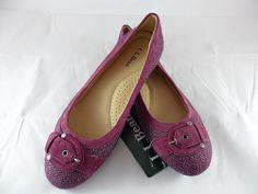 LL Bean Womens Skimmer Buckle Ballet Flats Shoes Wool/Tweed Raspberry Size 7 New #LLBean #BalletFlats