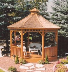 Out-of-doors Lifestyle – Patio Handle, Gazebo, Sunroom Or Screenroom? Garden Gazebo, Garden Bridge, Gazebo Plans, Pergola With Roof, Western Red Cedar, Diy Home Decor Projects, Architect Design, Raised Garden Beds, Gardens