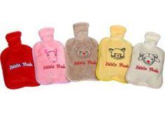 Baby-Körner-Wärmflasche: gefüllt mit einer Hirse-Aromamischung, niedlich bedruckt, in fünf verschiedenen Farben. Diese tun den kleinen Lieblingen sehr gut.
