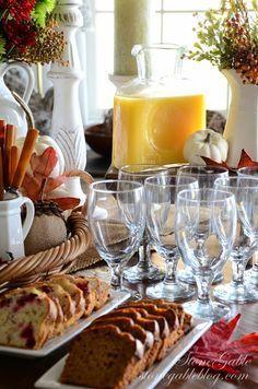 THANKSGIVING CONTINENTAL BREAKFAST VIGNETTE Breakfast PartiesBreakfast In BedBreakfast