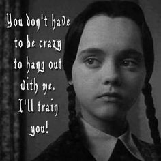 No experience necessary crazywoman friends bipolar goodfriends crazy nutter Sarcastic Quotes, Funny Quotes, Funny Memes, Random Quotes, It's Funny, Funny Shit, Funny Pics, Funny Stuff, Wednesday Addams