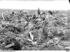 WWI, July Australian soldiers in the demolished German trenches at Messines. World War One, First World, Battle Of Messines, D Day Normandy, Man Of War, History Photos, War Machine, World History, Military History