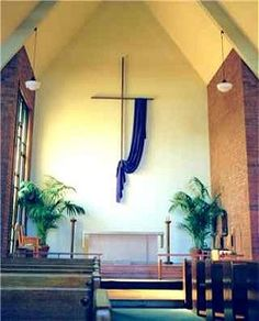 Lent cross draping