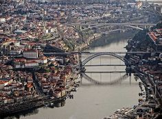Spain And Portugal, Portugal Travel, Porto City, Douro Valley, Famous Places, Most Beautiful Cities, Countries Of The World, Aerial View, City Photo