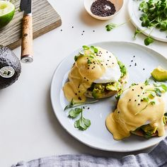 Avocado Toast Benedict, Why Didn't We Meet You Sooner? - Smashed California Avocados steal the show in everyone's favorite brunch dish. Best Picture For - Brunch Dishes, Brunch Menu, Brunch Ideas, Vegetarian Breakfast, Breakfast Recipes, Breakfast Items, Healthy Eating Recipes, Vegetarian Recipes, Healthy Foods