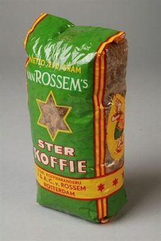 Pak koffie van 250 gram van Van Rossem, productnaam Ster koffie Rotterdam, Van, Vintage, Nostalgia, Everything, Vintage Comics, Vans, Vans Outfit