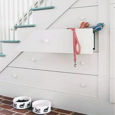 Home Ideas Under Stairs Dog Storage Cabinets Under Stairs Dog House, Under Stairs Nook, Outside Stairs, Stair Shelves, Staircase Storage, Stair Storage, Dog Storage, Under Stairs Wine Cellar, Puppy Room