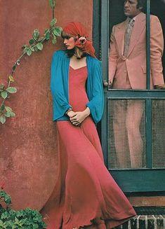 photo de mode : 1970s, Vogue, rose