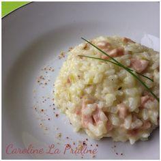 Caroline La Praline: Risotto aux Courgettes, Lardons et Piment d'Espelette (au Thermomix)