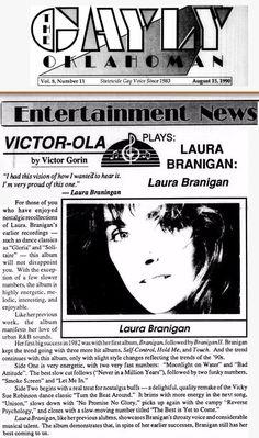 Laura 1990, Gayly Oklahoman reviews album Laura Branigan