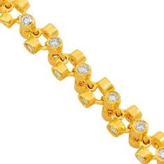 1c3ecb83cc5 14K Solid Yellow Gold Mens Diamond Chain Necklace 17.50 Ctw Avianne  amp   Co http