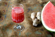 Sommerdrikk med vannmelon og ingefær